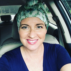 Faces of Hope - At the age of 40, Lisa was diagnosed with breast cancer. Her Hope Scarf brings her empowerment, knowing that she shares a scarf with others who have traveled the same road. Lisa is beautifully living life over cancer.